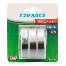 DYMO 3D Lente 9 mm x 3m (3gab.) / melns (S0847730)