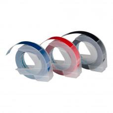 DYMO 3D Lentes Mehāniskā Etiķešu Printera 9mm x 3m / sarkana/zila/juoda (S0847750)