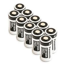 10 x Bateria litowa Panasonic 3V CR123A, DL123A, EL123A, CR17345, CR17350, K123LA