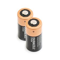 2 x Litija Akumulators Duracell 3V DL123A, K123LA, CR123, CR123A, EL123AP, EL123, CR17345