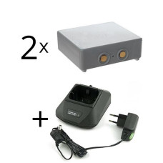 Zestaw ładowarka 12-230V do Hetronic Mini + 2 baterie HE900, 68300600, 68300900, 68300940, 68300990, RHE3614KG, KH550025
