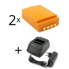 Zestaw ładowarka zamienna do HBC Radiomatic 12-230V + 2 baterie FUB05AA, FUB05XL, BA225000, BA225030