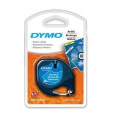 DYMO LetraTag Plastikāta Lente12mm x 4m / melns uz zilas (S0721600)