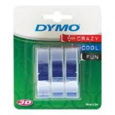 DYMO 3D Lentes Mehāniskā Etiķešu Printera 9mm x 3m (3gab.) / zila (S0847740)