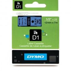 DYMO D1 Lente 12mm x 7m / melns uz zilas (45016 / S0720560)