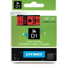 DYMO D1 Lente 12mm x 7m / melns uz sarkanas (45017 / S0720570)