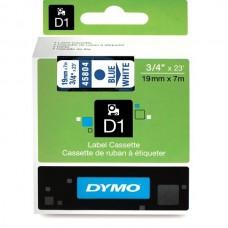 DYMO D1 Lente 19mm x 7m / zils uz baltas (45804 / S0720840)