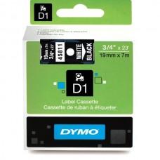 DYMO D1 Lente 19mm x 7m / balts uz melnas (45811 / S0720910)