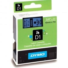 DYMO D1 Lente 19mm x 7m / melns uz zilas (45806 / S0720860)