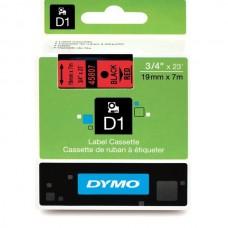 DYMO D1 Lente 19mm x 7m / melns uz sarkanas (45807 / S0720870)
