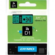 DYMO D1 Lente 19mm x 7m / melns uz zaļas (45809 / S0720890)