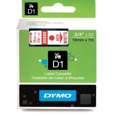 DYMO D1 Lente 19mm x 7m / sarkans uz baltas (45805 / S0720850)