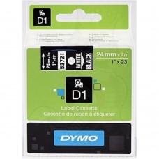 DYMO D1 Lente 24mm x 7m / balts uz melnas (53721 / S0721010)