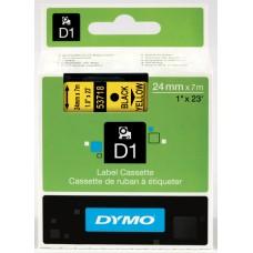 DYMO D1 Lente 24mm x 7m / melns uz dzeltenas (53718 / S0720980)