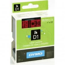 DYMO D1 Lente 24mm x 7m / melns uz sarkanas (53717 / S0720970)