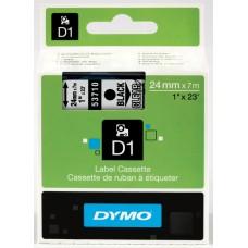 DYMO D1 Lente 24mm x 7m / melns uz caurspīdīgas (53710 / S0720920)