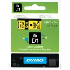 DYMO D1 Lente 6mm x 7m / melns uz dzeltenas (43618 / S0720790)