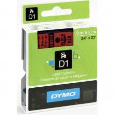 DYMO D1 Lente 9mm x 7m / melns uz sarkanas (40917 / S0720720)