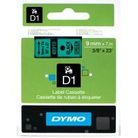DYMO D1 Lente 9mm x 7m / melns uz zaļas (40919 / S0720740)