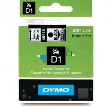 DYMO D1 Lente 9mm x 7m / melns uz caurspīdīgas (40910 / S0720670)