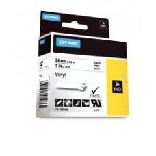 DYMO Rhino Vinila Lente 24mm x 5.5m / melns uz baltas (1805430)